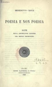 Poesia e non poesia