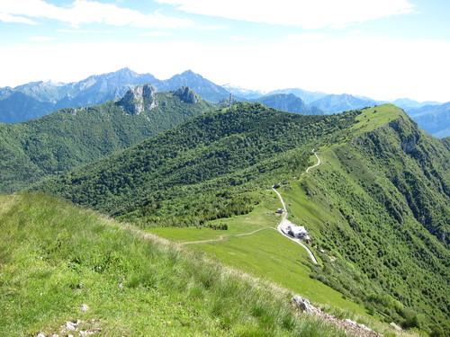 Vista dalla cima del monte Cornizzolo