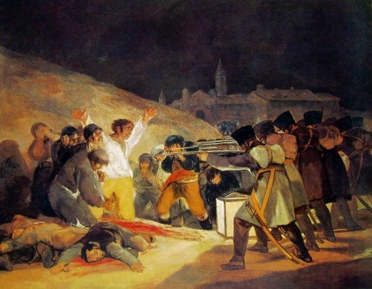 41 Goya-il 3 maggio 1808 fucilazione della montana del principe Pio